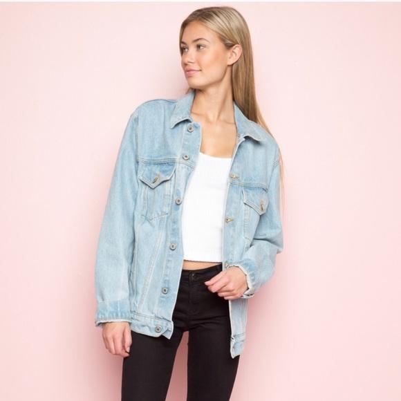 Brandy Melville Oversized Kelly Denim Jacket